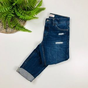 Levi's Boyfriend Cropped Jeans Destroyed Size 0